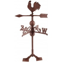 Cast Iron Brown Rooster Weathervanes