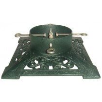 Cast Iron Green Hand Painted Christmas Tree Stand