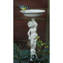 Cast Iron Hand Made White Finish Bird Bath