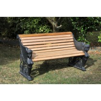 Cast Metal And Wooden Garden Bench - 1