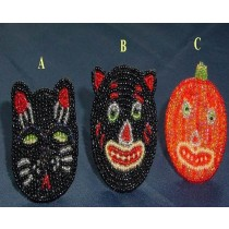 Cat Face Multi Colored Glass Beads Napkin Ring