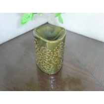 Ceramic Olive Green Triangle Oil Burner