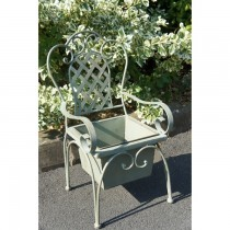 Chair Shaped Wrought Iron Planter Stand