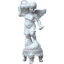 A beautiful sculpture of Angel holding fruit basket