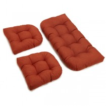 Cinnamon Color 3 Piece U Shaped Cushion Set