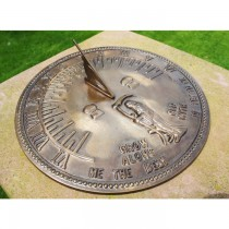 Classic Antique Brass Finish Garden Sundial