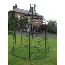 Classic Black Paint Finish Metal Gazebo