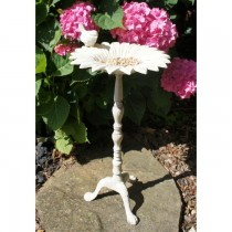 Classic Cream Finish Sunflower Design Iron Bird Bath