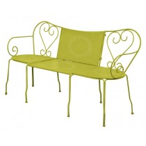 Classic Green Finish Metal Garden Bench