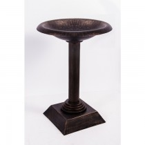 Classic Hand Cast Bronze Finish Aluminium Bird Bath