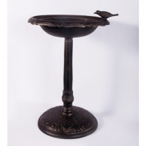 Classic Hand Crafted Bronze Finish Aluminium Bird Bath