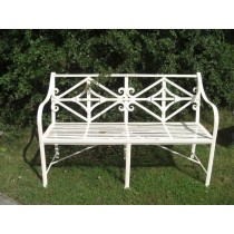 Classic Hand Made Iron Two Seater Garden Bench