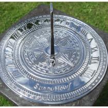 Classic Silver Finish Brass Garden Sundial