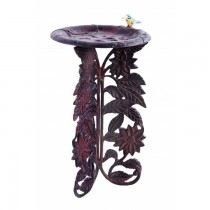 Classic Sunflower Design Aluminium Bird Bath