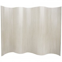 Classic White Finish Bamboo Wave Screen