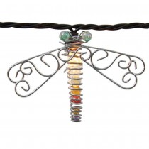 Clear Beaded Dragonfly String Light