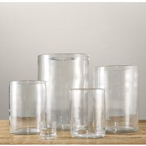 Clear Glass Hurricane Set of 5 Pcs