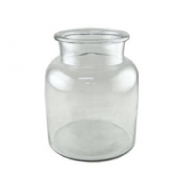Clear Glass Vase Candle Holder 19X19X22 cms