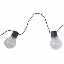 Clear Globe Solar LED String Lights
