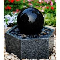 Cobble stone fish Fountain-30x30x30cm