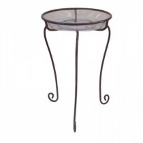 Coffee Brown Metal Plant Stand 16 Inch
