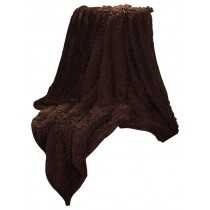 Coffee Solid Soft Plush Sherpa Fleece Throw