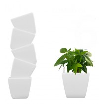 Combo of 6 White Self Watering Planter
