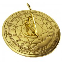 Compass Point Design Brass Polished Garden Sundial