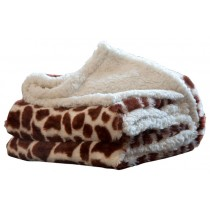 Contemporary Style Animal Print Throw