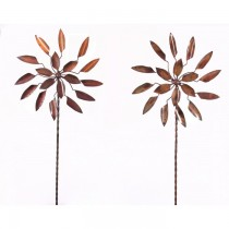 Copper Finish Flower Design Weathervanes