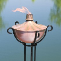 Copper Garden Torch With Floor Stand