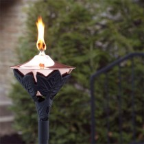 Copper Garden Torch With Yard Stake