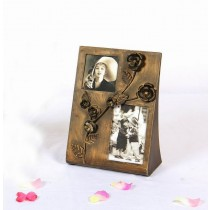 Copper Metal Hand Carving Floral Photo Frame