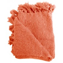 Coral Red 50 X 70 Inch Throw