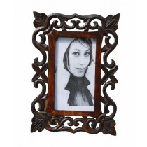 Corner Leaf Sided 4 x 6 Photo Frame