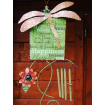 Crafted Dragonfly Hanging Weathervanes