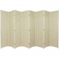 Cream 6 Feet - Tall Woven Fiber 8 Folding Panel