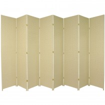 Cream 7 Feet - Tall Woven Fiber 8 Folding Panel