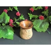 Cream Ceramic Hand Craving Oil Burner