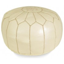 Cream Color Round Floor Pouf