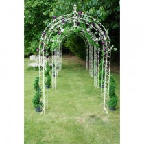 Cream Finish Hand Made Wrought Iron Garden Arch
