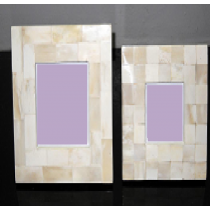 Cream Mosaic photo frame 4 x 4""