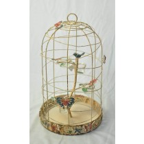 Cream Shabby Chic Decorate  Bird Cage Candle Holder