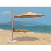 Cream Small Rome Aluminum Umbrella(Size 300 X 300 Cm)