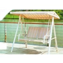 Cream & White Three Seater Garden  Swing