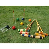 Croquet Wooden Garden Games Set