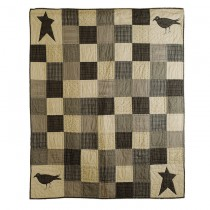 Crow And Star Design Cotton Throw - 1