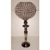 Crystal Hurricane Candle Holder(15 X 15 X 64 CM)