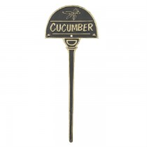 Cucumber Bronze Finish Vegetable Garden Tag