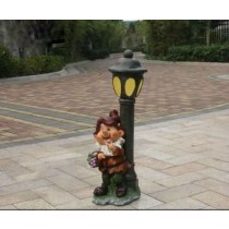 Cute Gnome With Garden Lamp